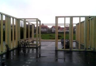 strmec, drvena kuća