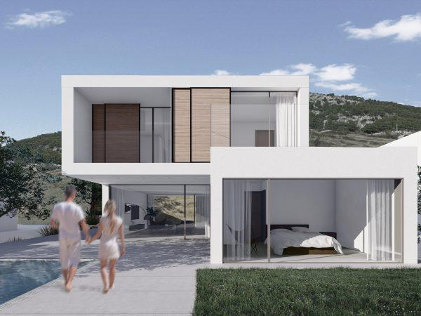 vile bol, upi-2m, projekt, arhitektura, upi2m, villas, vila, vile, villa, holidays vila, island brač, brač, bol, croatia, architecture