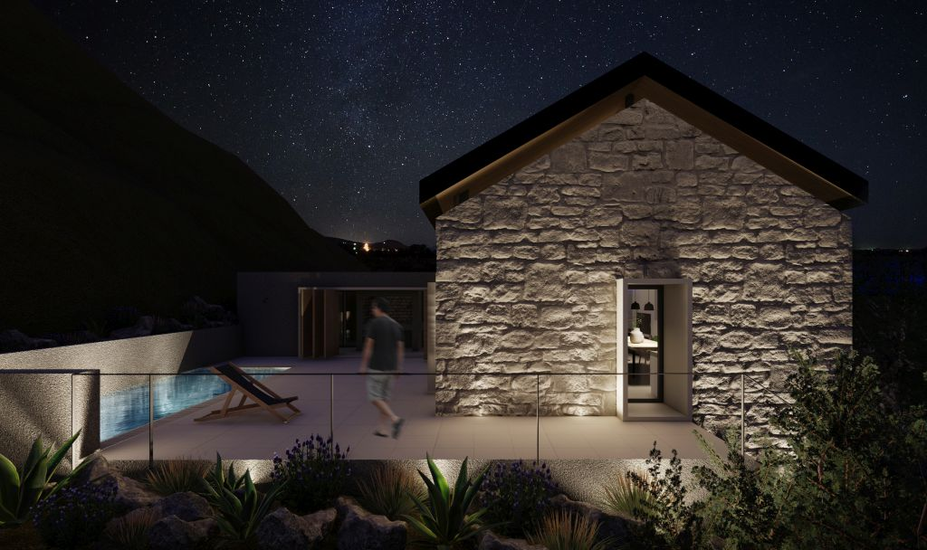 kamena kuća, iris, lokva rogoznica, omiš, hrvatska, croatia, stone house, architecture, arhitektura