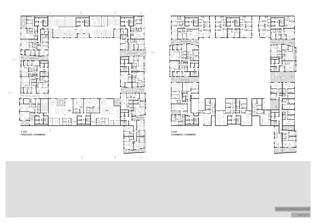 ALFASTAN, CONCEPTUAL DESIGN, OFFICE AND RESIDENTAL BUILDING, POSLOVNO-STAMBENA ZGRADA, UPI2M, ARHITEKTURA, ARCHITECTURE